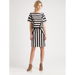 Marc By Marc Jacobs White Scooter Stripe Dress
